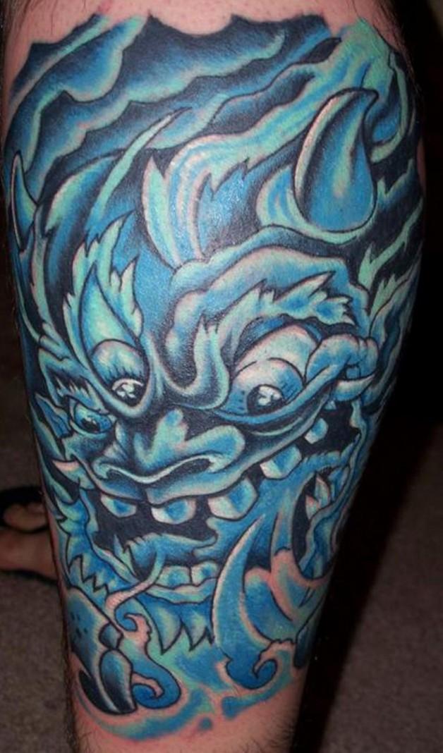 Water Demon Tattoos Blue Design