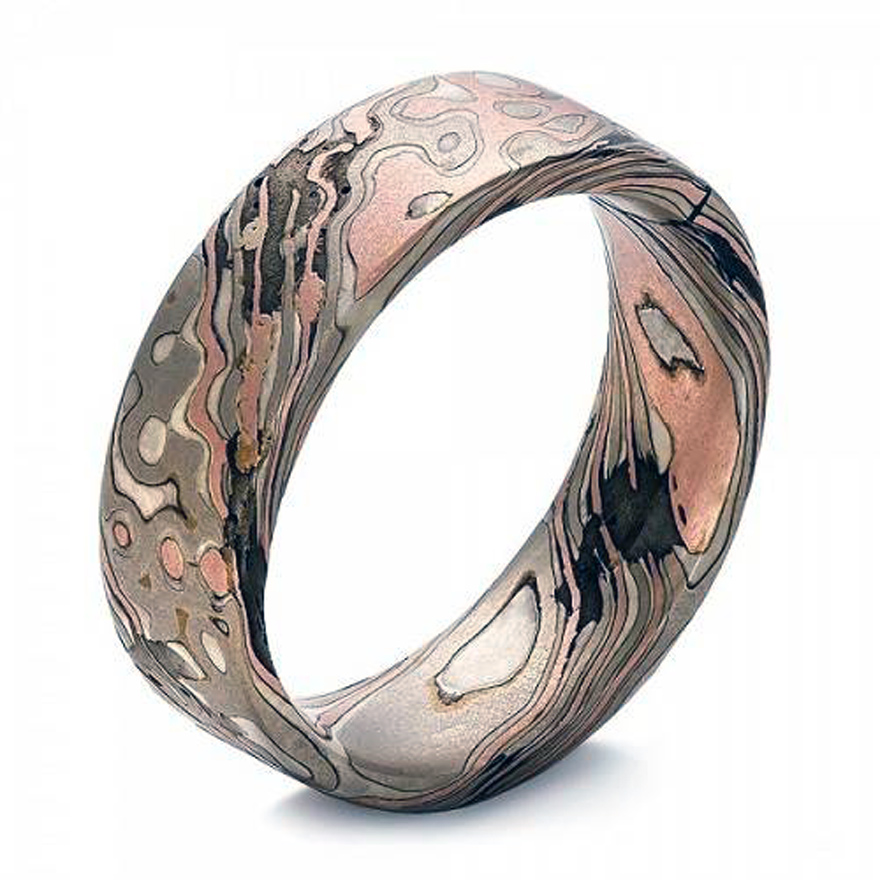 Wedding Bands Mens Bronze