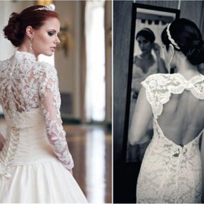 Wedding Dress Lace Back Pictures