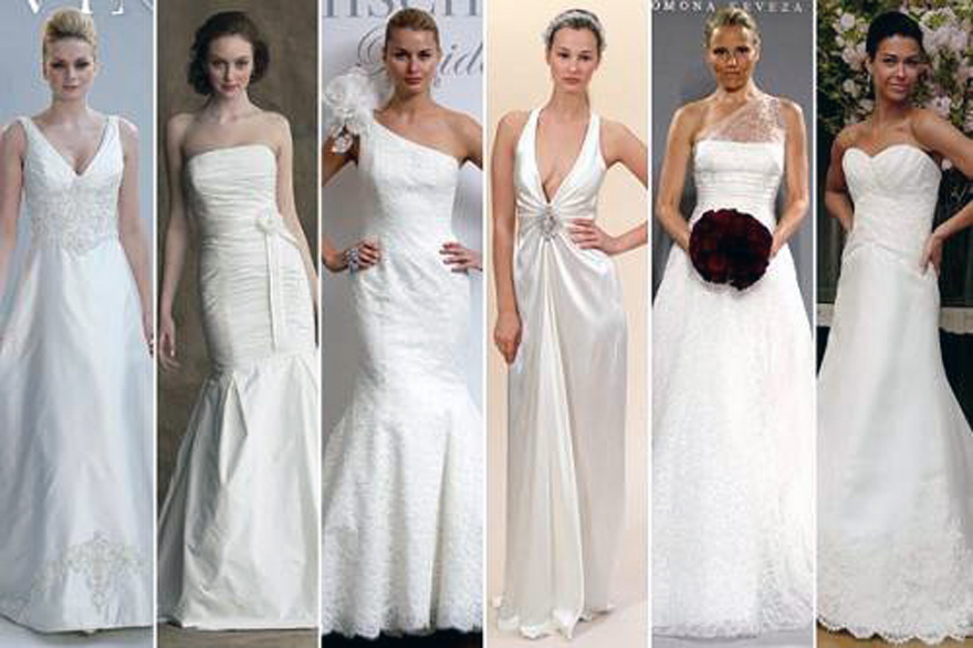 Wedding dress necklines for large busts for Wedding dress for small bust
