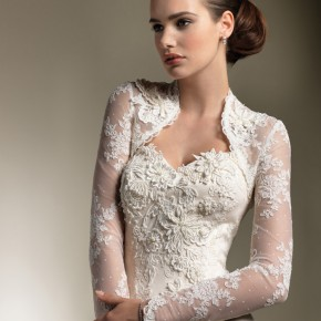 Wedding Dresses With Sleeves - Elegant Lace Sweetheart Trumpet Wedding Dress with Long Sleeve Jacket