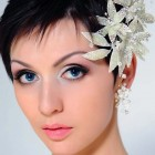 Wedding Hair Style Shorter Hair Model Pictures