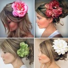 Wedding Hairstyle With Flowers Ideas Pictures