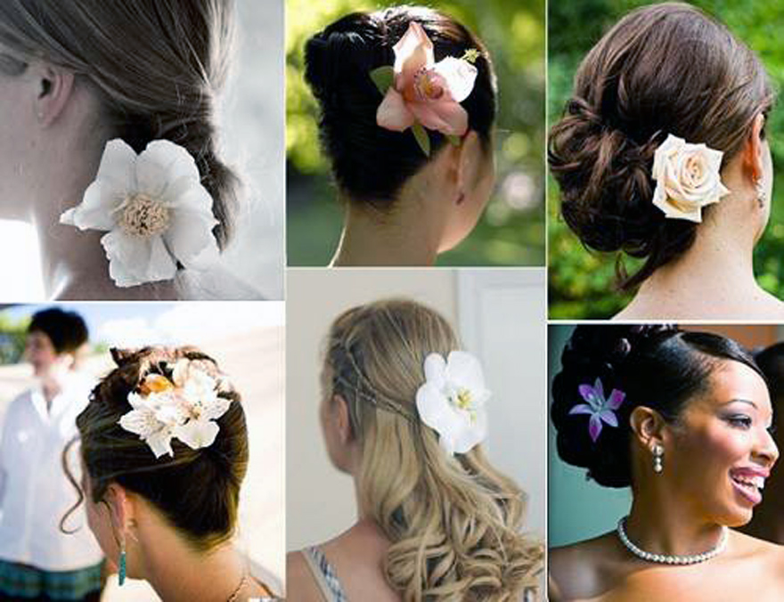 Wedding Hairstyle With Flowers Models