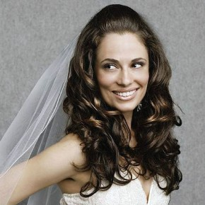 Wedding Hairstyles Curly Down With Veil Pictures