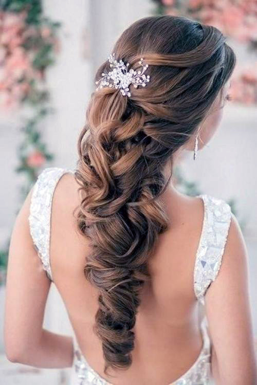 wedding hairstyles down curly for bride - inofashionstyle
