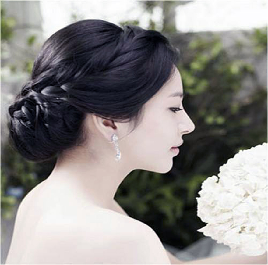 Wedding Hairstyles Korean Simple