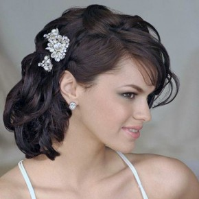 Wedding Hairstyles Side Swept Ideas Pictures
