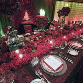 Wedding Reception Ideas Red Pictures