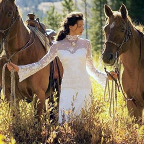 Western Wedding Dress Patterns Pictures