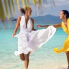 White Beach Dresses For Women Pictures