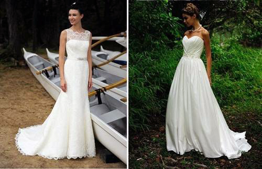 White beach wedding dresses casual cheap for Cheap beach wedding dress