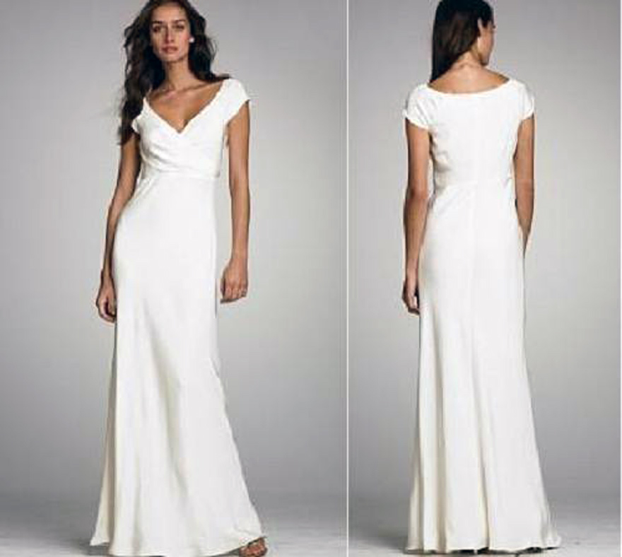 white casual wedding dress white wedding dresses casual images 1312