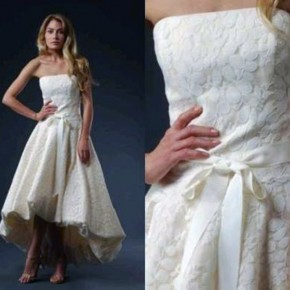 White Cotton Wedding Dress 2013 Pictures