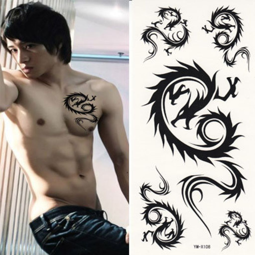 Wholesale Dragon Pattern Waterproof Temporary Tatto Pictures
