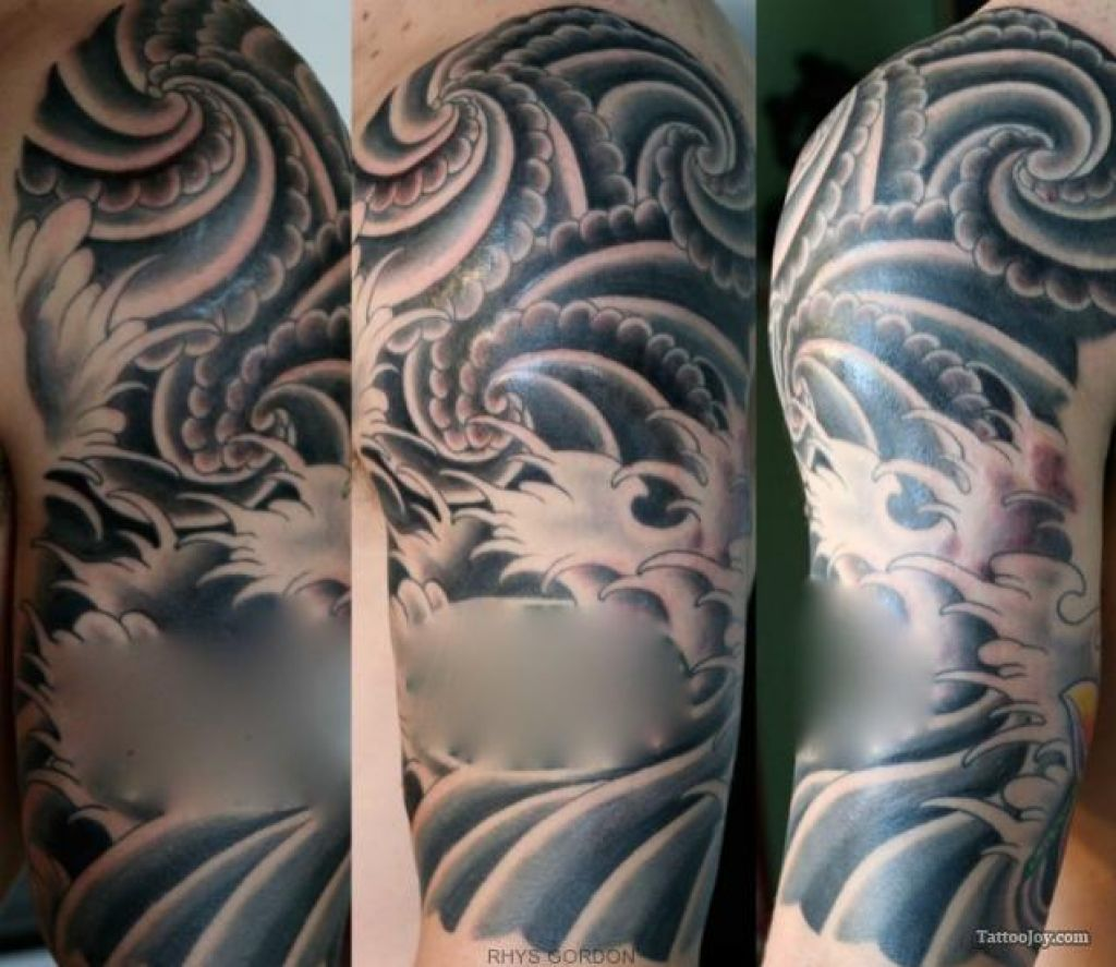 Japanese Wind Tattoo: Wind And Water Tattoo Design