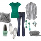 Women Casual Dress In Green Pictures