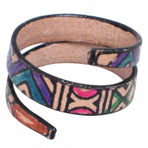 Women Fashion Accessories - Aesthetic and Unique Tribal Wrap Leather Ring Design for Women