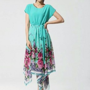 Womens Floral Maxi Dresses Short Pictures