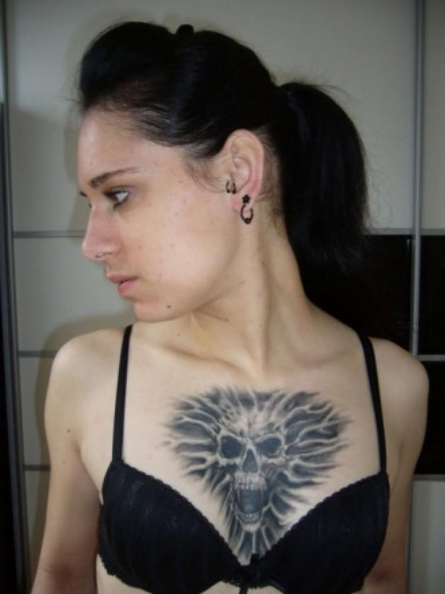 Wonderful Chest Tattoo Designs For Women