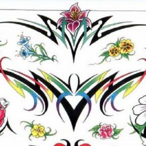 Wonderful Flowers Tattoo Stencils Ideas Pictures