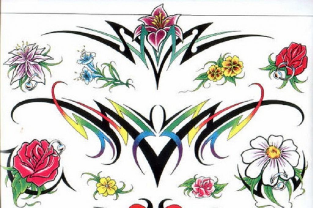 Wonderful Flowers Tattoo Stencils Ideas Pictures