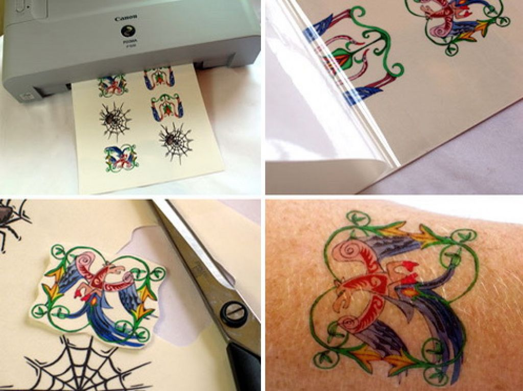 Wounderful Color Temporary Tattoo Paper Pictures