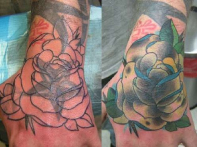 Wrist Rose Cover Up Tattoo Ideas