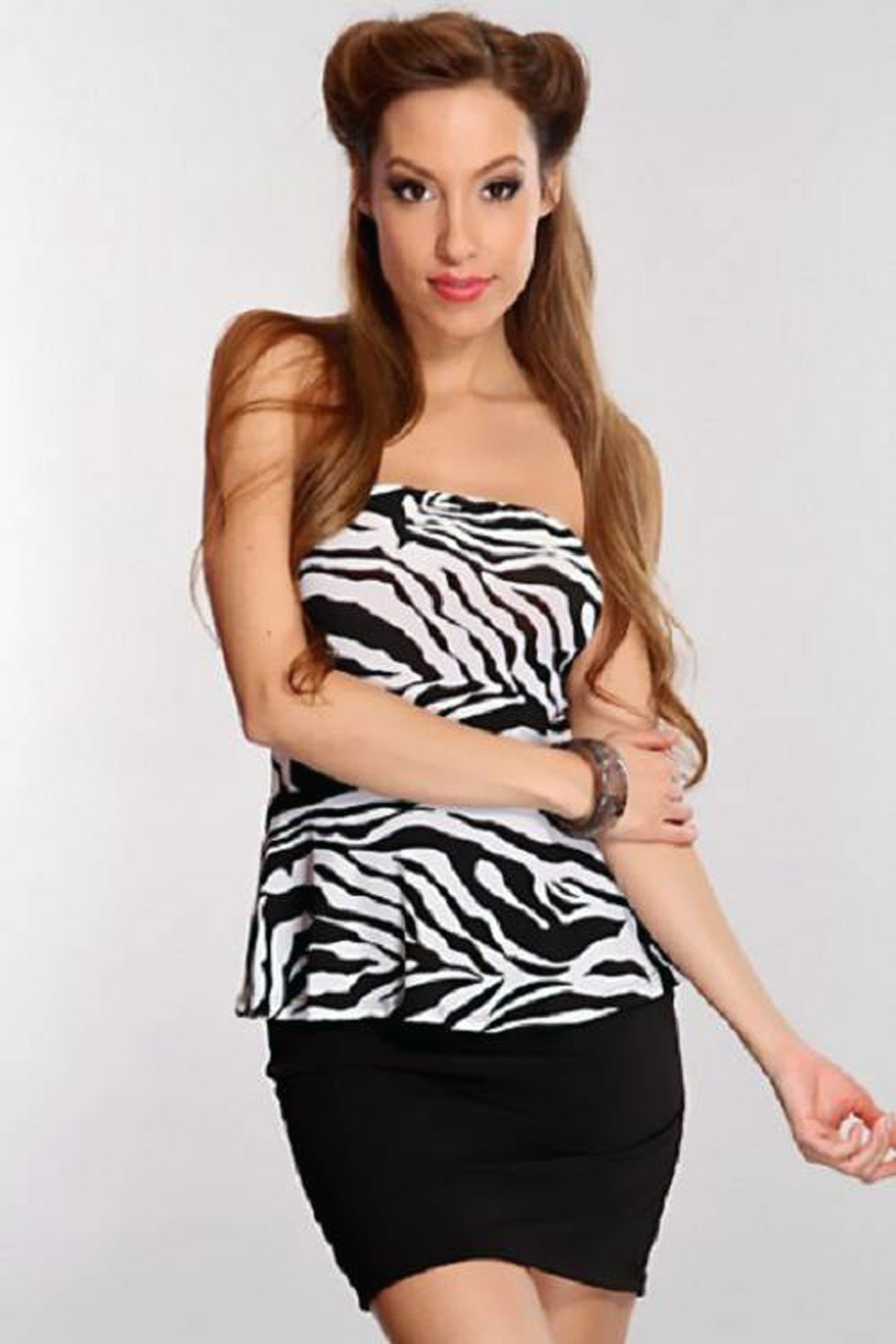 Zebra Dresses For Teenagers Casual