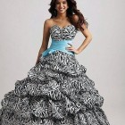 Zebra Feather Prom Dress Styles Pictures