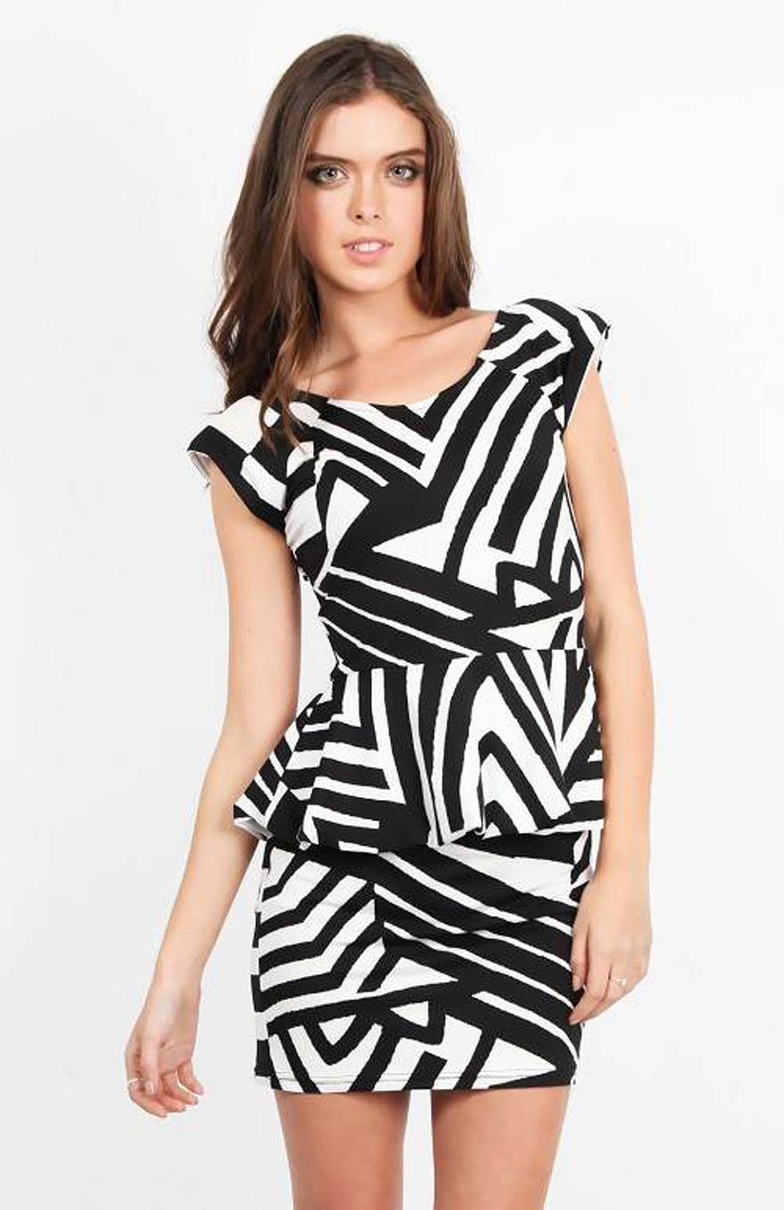 Zebra Print Cocktail Dress Online