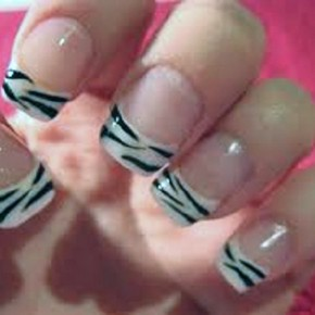 Zebra Print Nails Designs Pictures