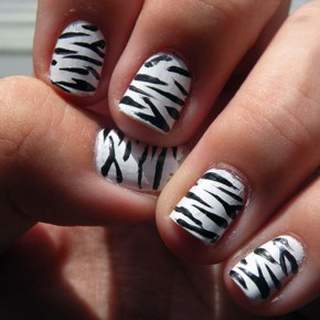 Zebra Print Nails Tips Pictures