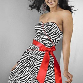 Zebra Prom Dress Designs Pictures